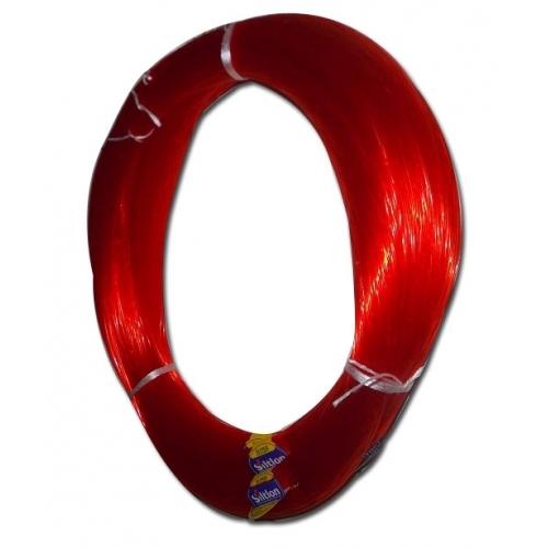 Monofilament à palangres pour congres, bars,etc, ø 1.1mm rouge 100 mètres