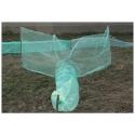 Verveux à deux ailes maille 4mm lg 4.00 mètres environ pour pêche scientifique, pisciculture etc