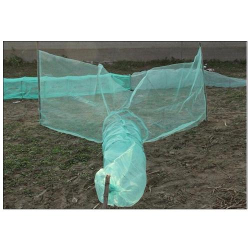 Verveux à deux ailes maille 5mm lg 3.30 mètres environ pour pêche scientifique, pisciculture etc