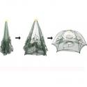 Nasse pliable en dome 87X35cm spécial crevettes, écrevisses 6 trous.