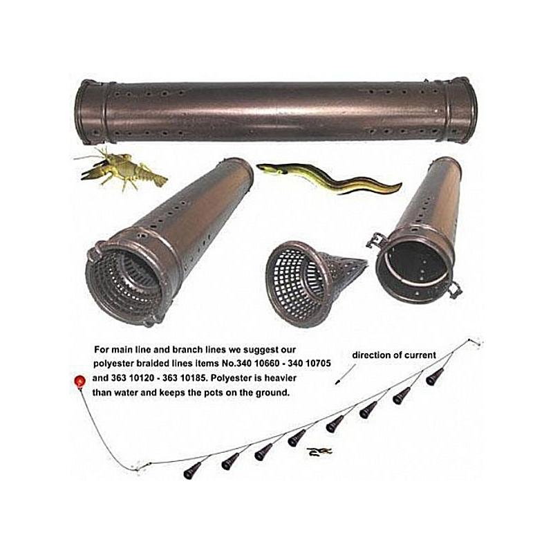 Nasse en plastique spécial anguille - Deux entrées - Lg 75cm